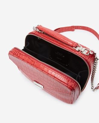 The Kooples Mini red Barbara bag in crocodile leather