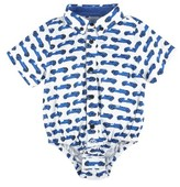 Andy & Evan Infant Boy's Race Car Button Down Bodysuit