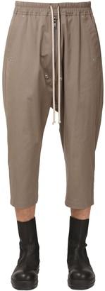 Rick Owens Cropped Cotton Canvas Pants