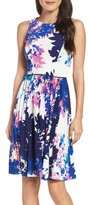Maggy London Women's Stretch Fit & Flare Dress
