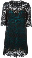 Dolce & Gabbana embroidered lace dress - women - Silk/Cotton/Polyamide/Spandex/Elastane - 46