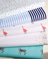 Martha Stewart CLOSEOUT! Whim by Collection Novelty Print Cotton Percale King Sheet Set