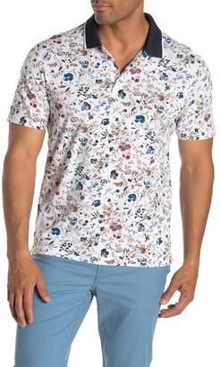 Perry Ellis Short Sleeve Floral Polo