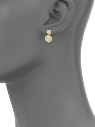 Effy Diamond and 14K Yellow Gold Disc Earrings