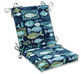 Pillow Perfect Hooked Lagoon Squared Corners Chair Cushion