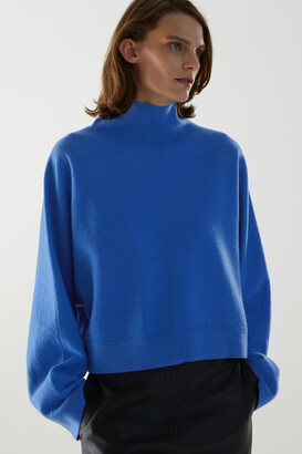 Cos Wool Cropped Roll-Neck Jumper