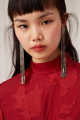 Keepsake OFFSET LONG SLEEVE DRESS rouge
