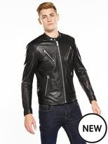 Replay Leather Biker Jacket