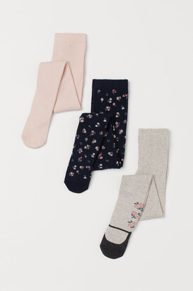 H&M 3-pack Tights - Blue