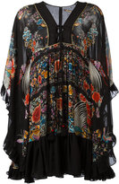 Roberto Cavalli enchanted garden lace-up dress