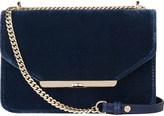 LK Bennett Karla velvet and leather shoulder bag