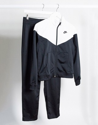 Nike tracksuit in black and white