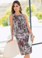 Together Double Layer Print Dress