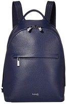 Lipault Paris Invitation Small Round Backpack (Navy) Backpack Bags