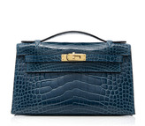 Heritage Auctions Special Collections Hermes Colvert Shiny Alligator Kelly Pochette