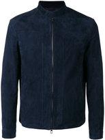 Loro Piana Zipped suede jacket - men - Lamb Skin/Polyester - S