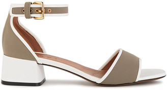 Marni Two-tone Neoprene And Faux Patent-leather Sandals