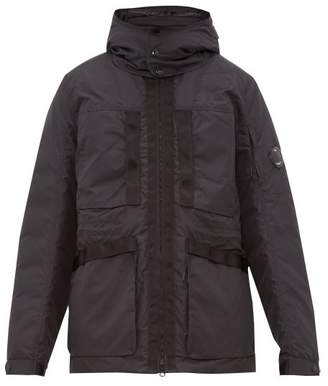 C.P. Company Goggle Hood Down Filled Parka - Mens - Black