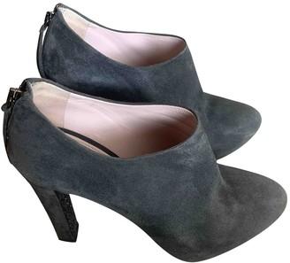 Miu Miu Grey Leather Ankle boots