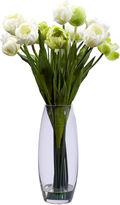 Asstd National Brand Nearly Natural Tulip Silk Flower Arrangement with Vase