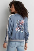 American Eagle Outfitters AE Embroidered Bomber Jacket