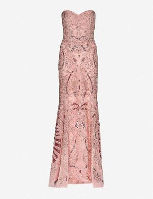 ZUHAIR MURAD Sequinned silk-chiffon gown