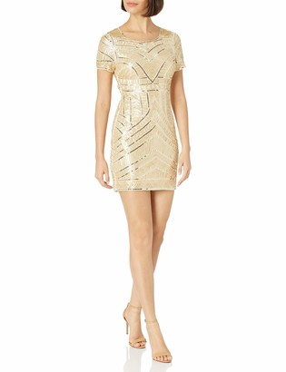Minuet Women's Ornate Allover Beaded Short Dress