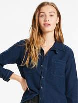 Lucky Brand Dark Knit Denim Shirt