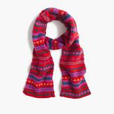 J.Crew Wool scarf in Fair Isle