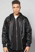 Boohoo Quincy Badged MA1 Bomber Jacket