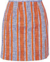 Carven Striped cotton-tweed mini skirt