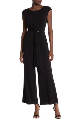 T Tahari Sash O-Ring Knit Jumpsuit