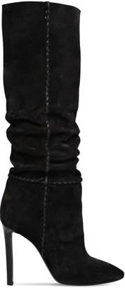 Saint Laurent 105mm Mica Suede Slouchy Boots