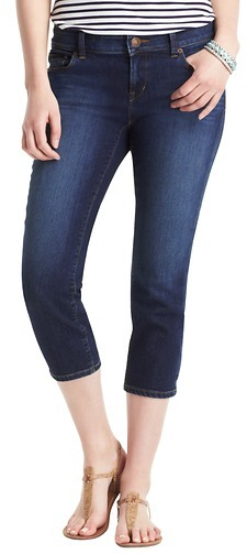 LOFT Modern Crop Jeans in Venice Blue Wash
