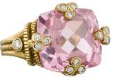 Judith Ripka Crystal and Diamond Ring