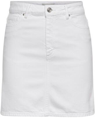 Only Denim Straight Mini Skirt