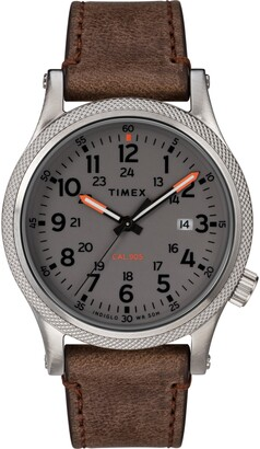 Timex Allied Leather Strap Watch, 40mm