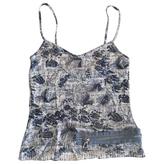 Christian Dior Blue print jersey Top