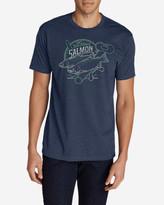 Eddie Bauer Men's Graphic T-Shirt - Salmon Reel