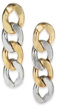 Alfani Two-Tone Large Chain Link Linear Drop Earrings, Created For Macy's