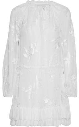 Cinq à Sept Aibileen Gathered Embroidered Silk-chiffon Mini Dress