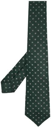 Kiton Knitted Polka-Dot Tie