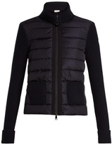 Moncler Contrast-panel wool and cashmere-blend sweater