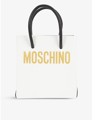 Moschino Logo-print leather cross-body bag