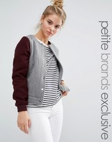 Noisy May Petite Button Up Baseball Jacket