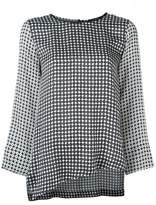 Odeeh printed asymmetric blouse
