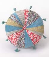 Jessica Simpson Amrita Tasseled Button-Tufted Patchwork Round Pillow
