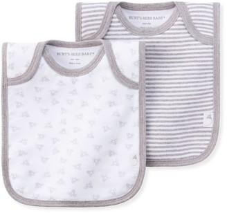 Burt's Bees Lap Shoulder Organic Baby Bibs 2 Pack