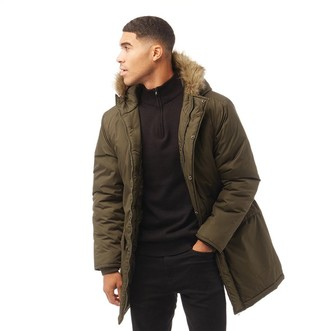 French Connection Mens Parka 3 Jacket Khaki