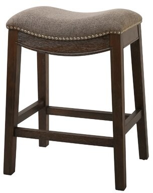 """Mcgreevy Saddle Style Counter Height 25"""" Bar Stool Charlton Home"""